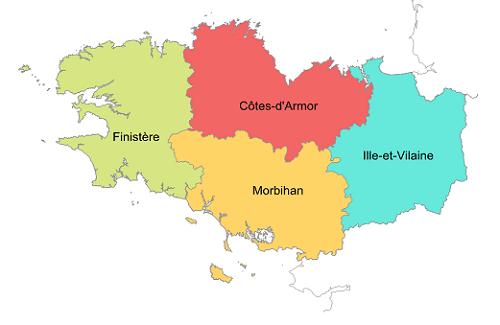 départements bretons