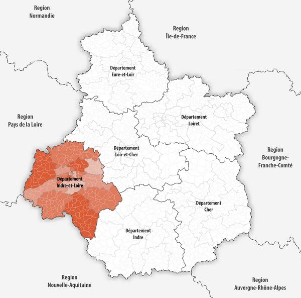 département région centre val de loire