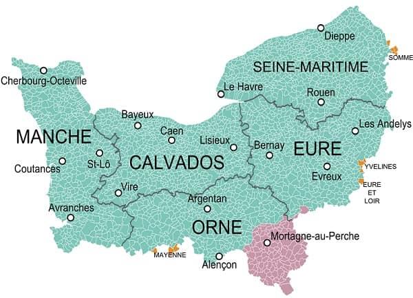 départements de normandie