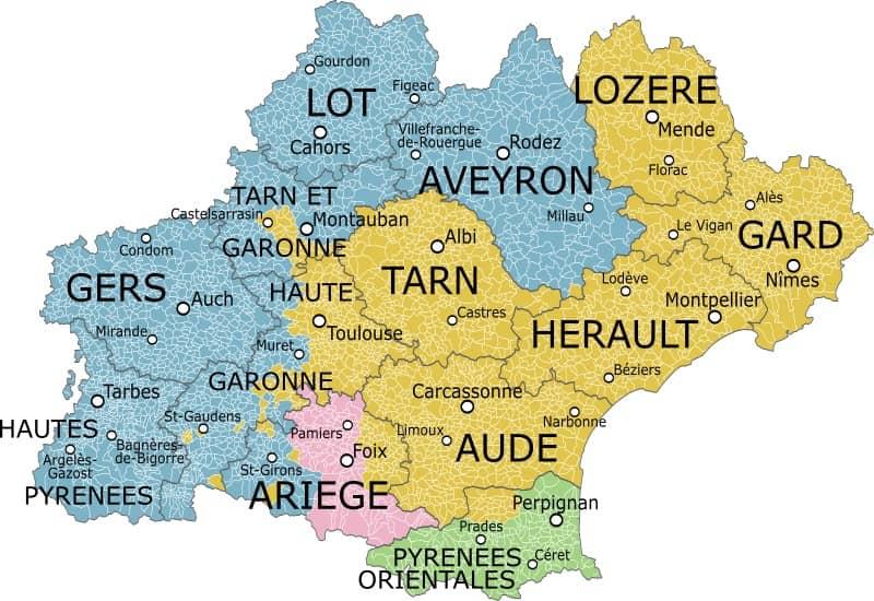 département d'occitanie